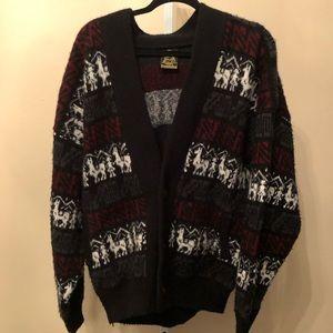 Tejidos Ruminahui VTG Wool Cardigan (L)